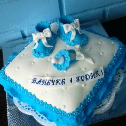 Торт подушка голубая_1