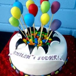 Торт Цветные шарики