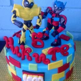 Торт Лего трансформеры