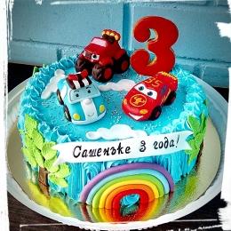 Торт кремовый Машинки_1