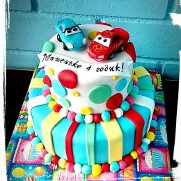Торт Тачки в 2 яруса. Вес 4кг_1