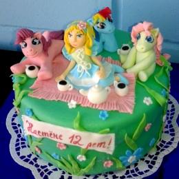Торт Девочка  и пони