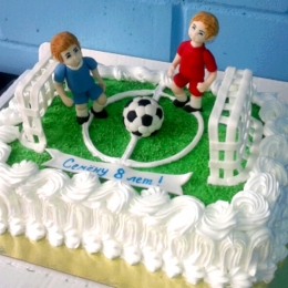 Торт кремовый Футбольное поле_1