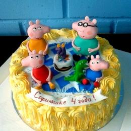 Торт кремовый Свинка Пеппа_1