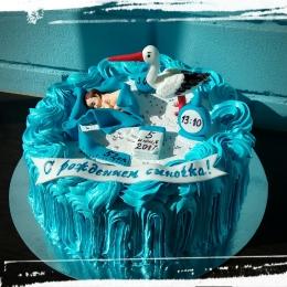 Торт на рождение малыша_1