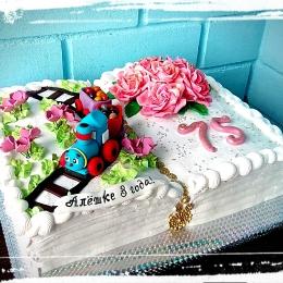 Торт на двойной праздник_1
