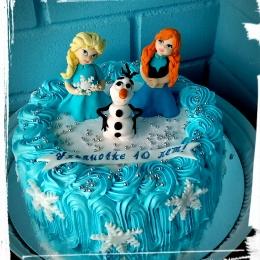 Кремовый торт Холодное сердце_1