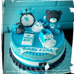 Торт на годик с мишкой_1