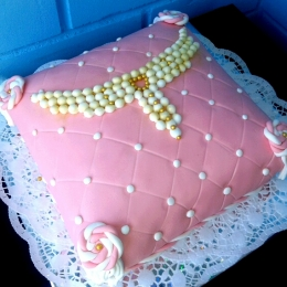 Торт подушка с колье_1