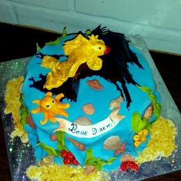 Торт с золотой рыбкой_1