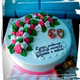 Торт с цветами на юбилей_1
