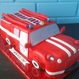 Торт Пожарная машина_1