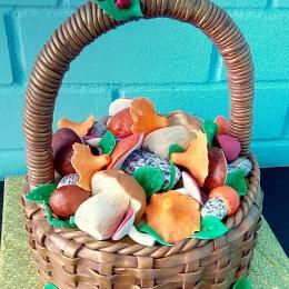 Торт корзина с грибами_1