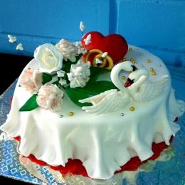 Торт с лебедями_1