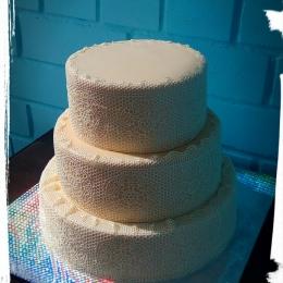 Свадебный торт Кружевной_1