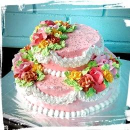 Торт свадебный кремовый вес 4кг_1