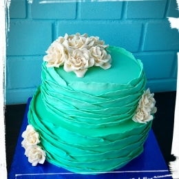 Торт свадебный Волна. Возможен любой цвет оформления_1