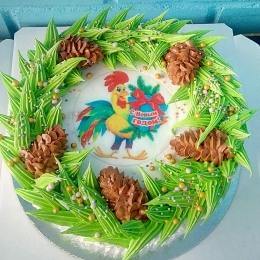 Торт с символом года_1