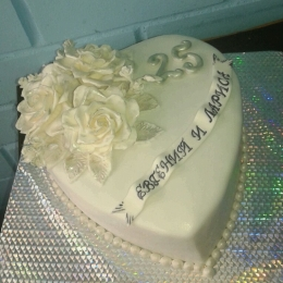 Торт Серебряное сердце_1