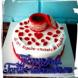 Торт на рубиновую годовщину_1